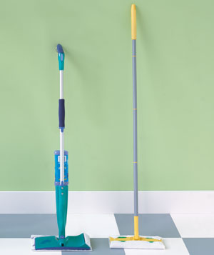 Swiffer WetJet and Scotch-Brite Super-Cling mops