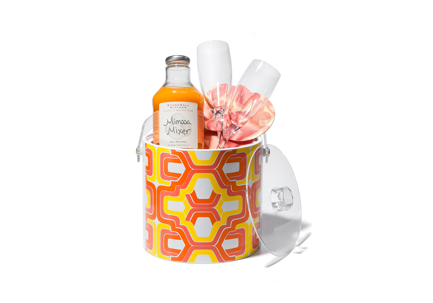 Festive ice box gift basket for Mother's Day
