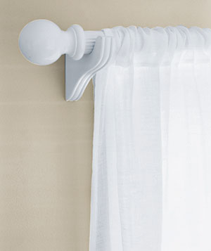 Wood, Metal, or Plastic Curtain Rods