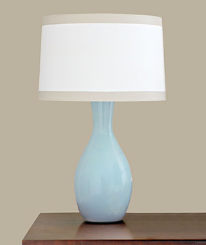 Ceramic or Glass Lamps and Paper or Fabric Shades