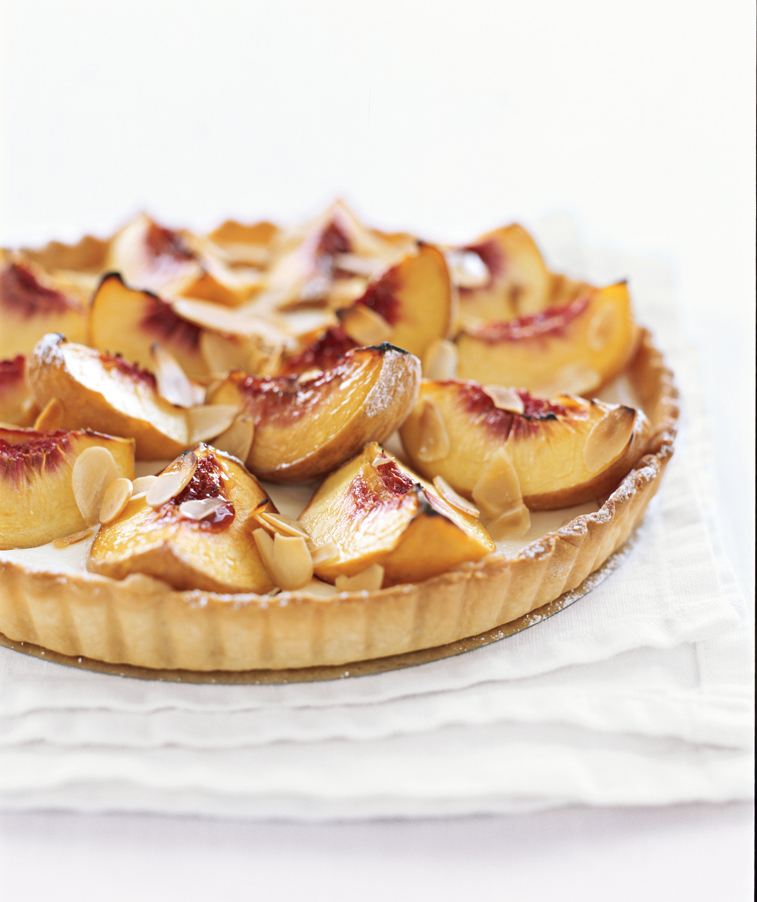 Peach and Sour Cream Tart