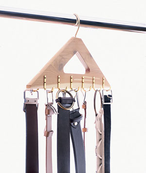 belts on a hanger