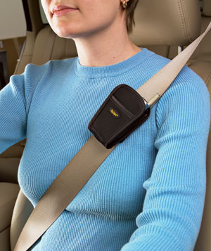 Woman wearing a seatbelt
