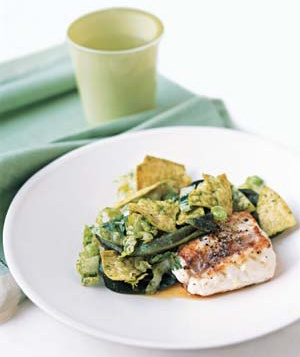 Pan-Seared Grouper With Romaine Slaw