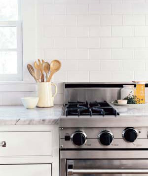 Stove and wooden spoons