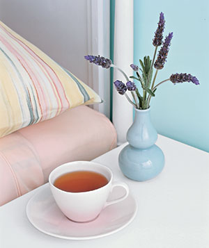 Tea on nightstand