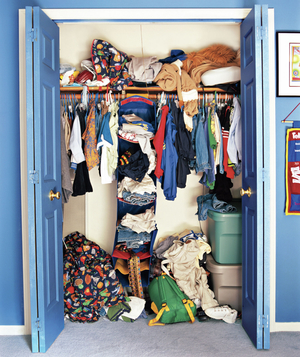 Kids' closet - before