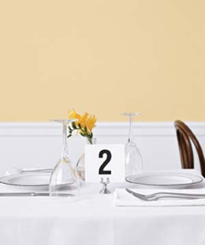 A table number card