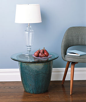 Planter as table
