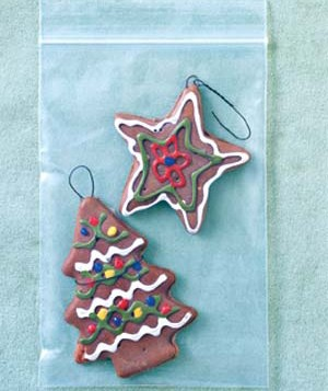 Christmas cookie ornaments with sandwich bag