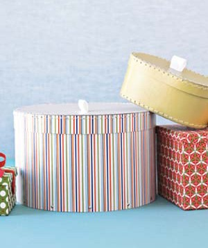Circular boxes are great for odd-shaped presents like stuffed animals, bags, and dishware.