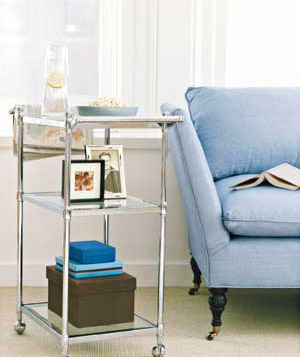 Bath cart as side table