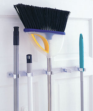Keep Brooms in Place