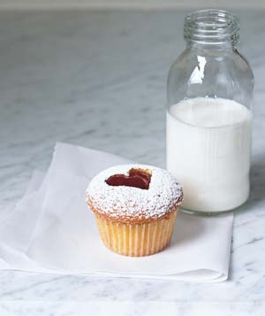 Linzer style cupcakes