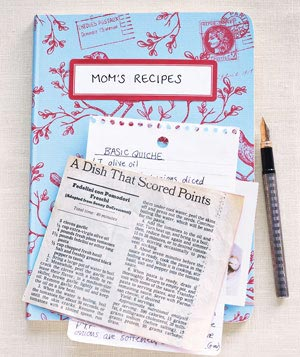 mom's recipes book