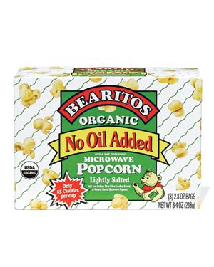 Bearitos Organic No Oil Added Lightly Salted