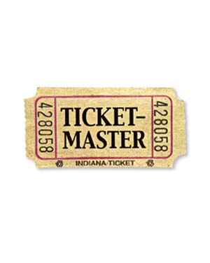 ticket master ticket stub