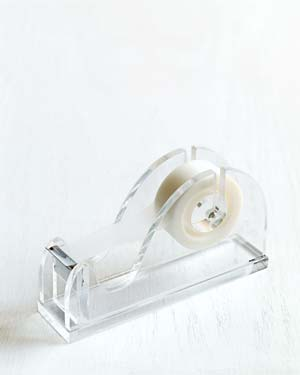 Transparent tape in dispenser