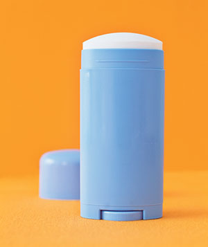 how to get out deodorant stains fast