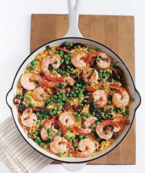 Shrimp and Sausage With Saffron Rice