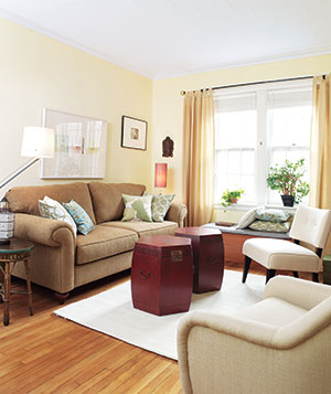 Living Room Makeover Captivating 14 Livingroom And Diningroom Makeovers  Real Simple Decorating Design