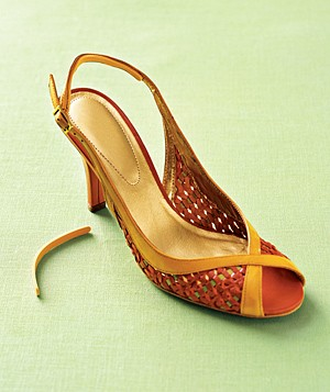 Slingback with FootPetals Strappy Strip