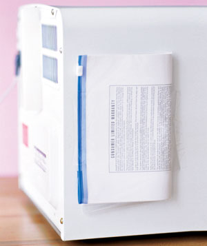 Zippered Plastic Bag as Manual Storage