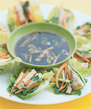 Pork Lettuce Wraps With Ginger Sauce