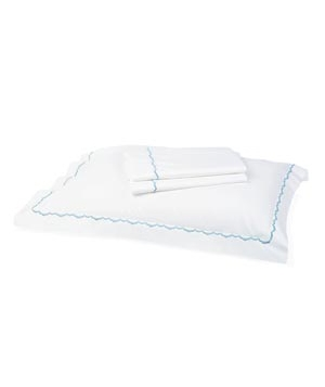 Garnet Hill Scallop Percale Sheets