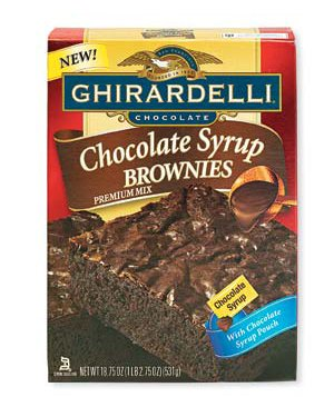 Ghirardelli Chocolate Syrup Brownies