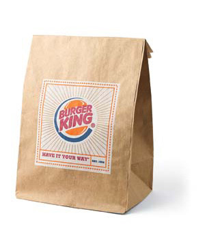 Burger King bag