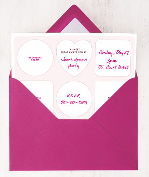 Dessert party invitations