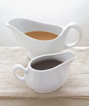Gravy in gravy boats