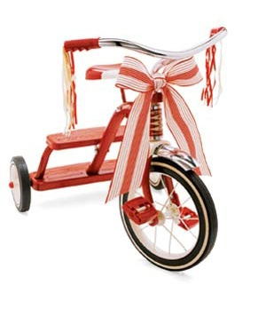 Tricycle with a bow