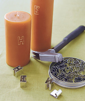 Engraved candle