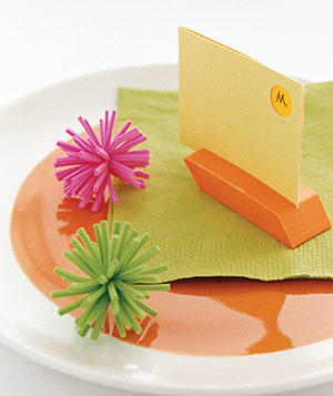 Eraser as place card holder