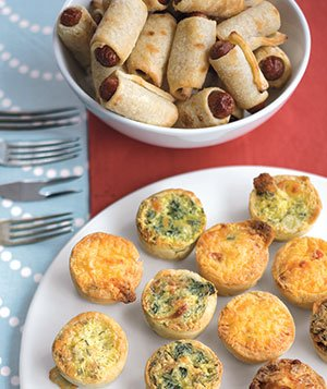Pigs in a blanket & mini quiches