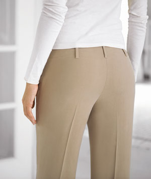 Woman wearing beige pants