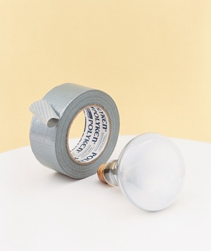 Light bulb and a roll of duct tape