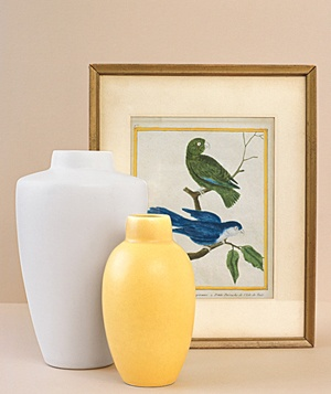 Vases and framed art