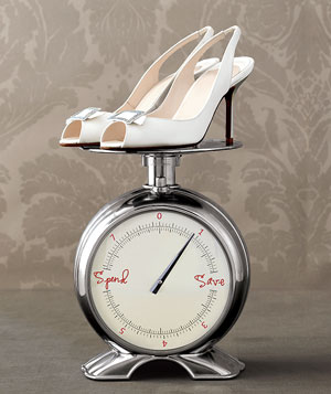 High heels on a scale