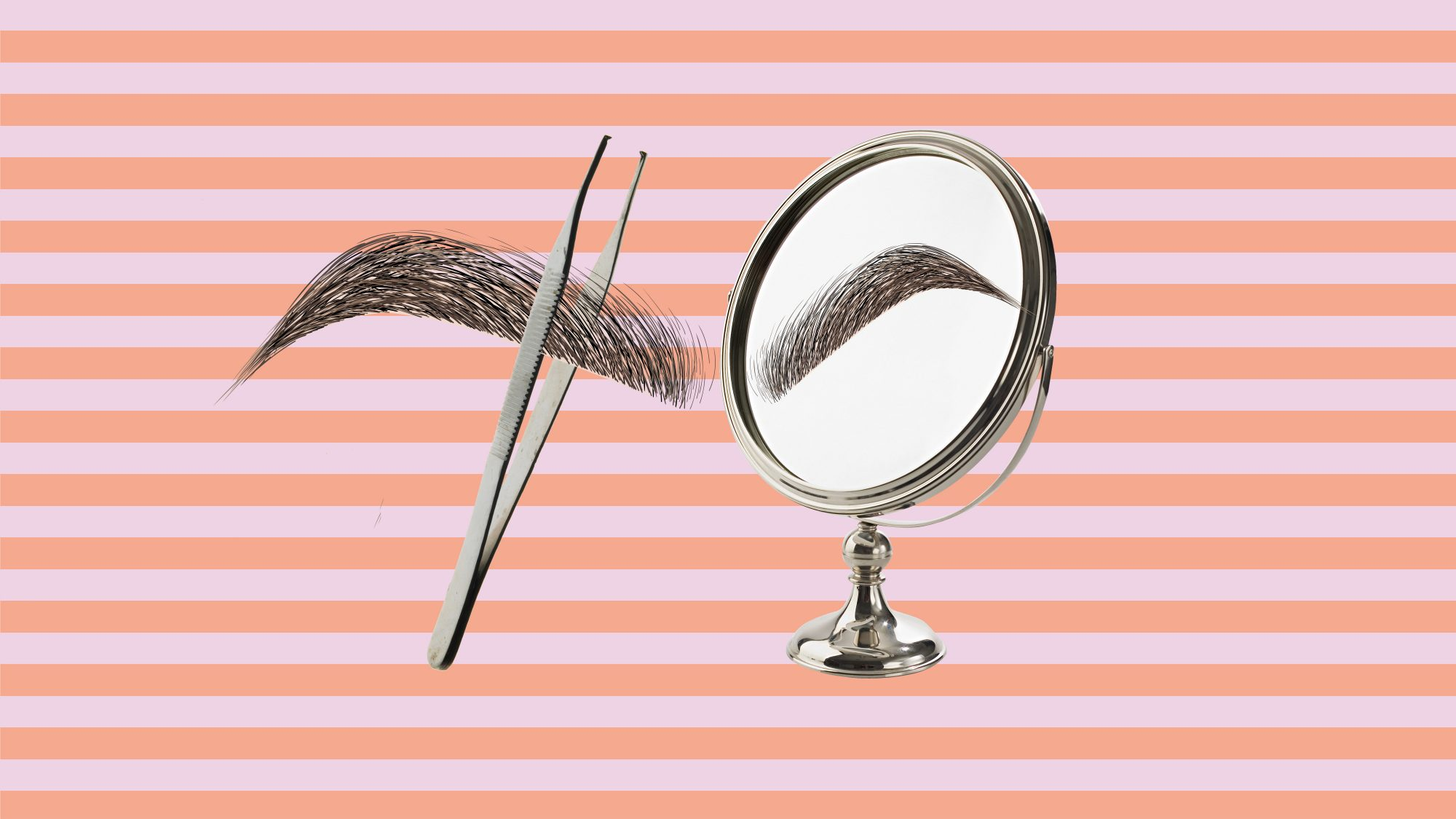 How to Fix 8 Common Beauty Mistakes: Tweezing Your Eyebrows Too Close to a Mirror