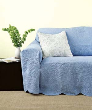 Coverlet as slipcover
