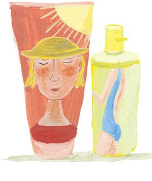 Illustration of self-tanners