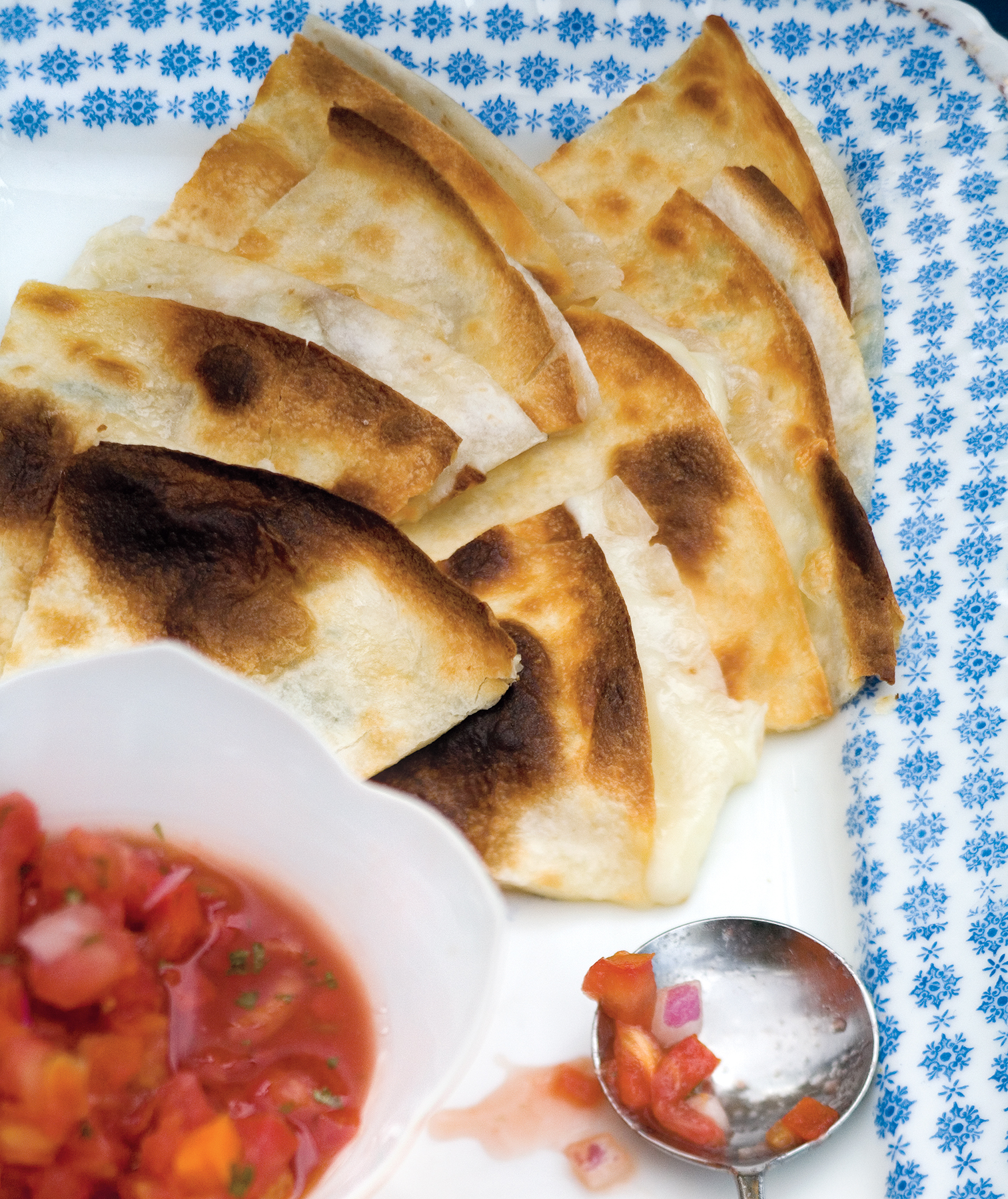 Quick party appetizers real simple cheese quesadillas forumfinder Choice Image