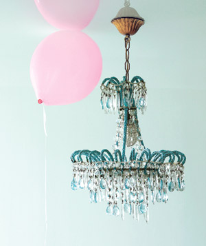 Chandelier and balloons