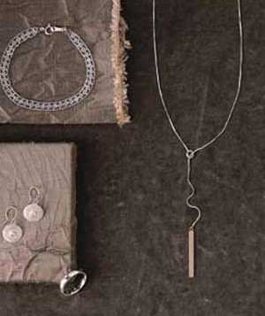 platinum necklaces, earrings and ring