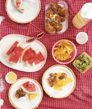 4 fast delicious picnicspart homemade part store bought real simple a picnic at the beach forumfinder Choice Image