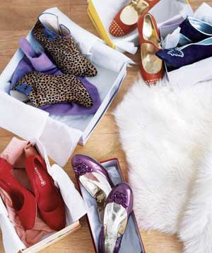 Various pairs of shoes