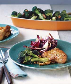 Roast Chicken With Balsamic Radicchio